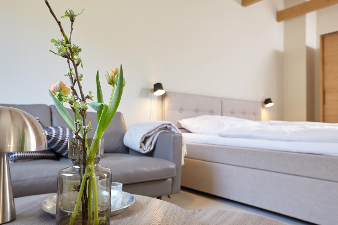 Wohnraum und Schlafzimmer