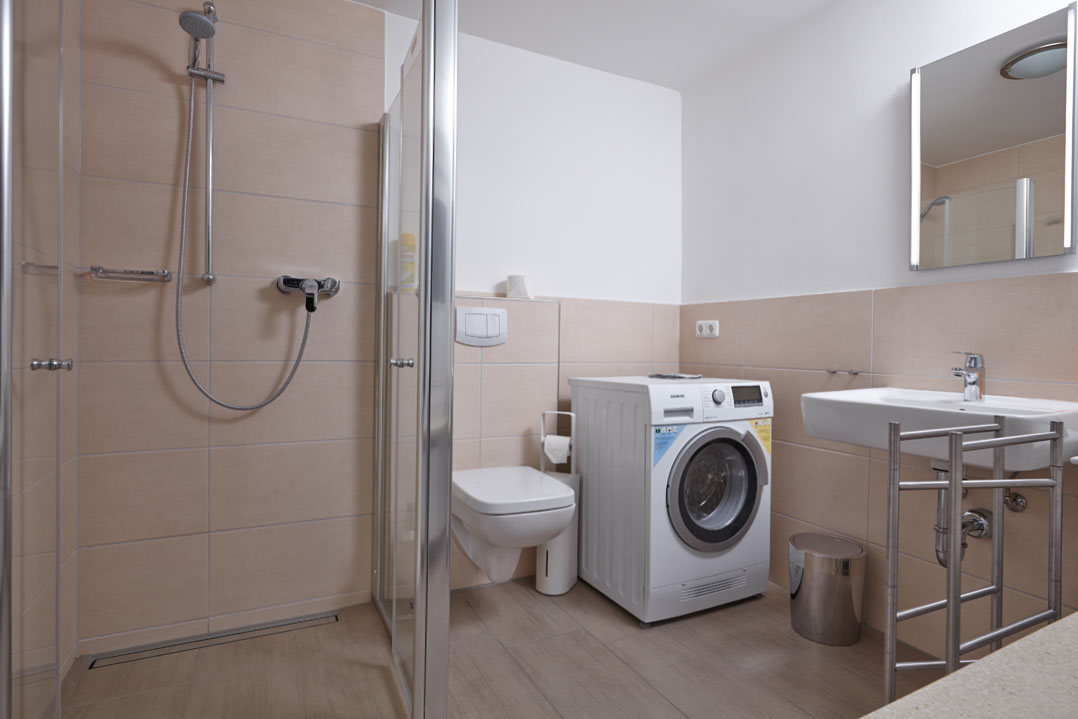 Ferienwohnung Weiße Düne, Badezimmer