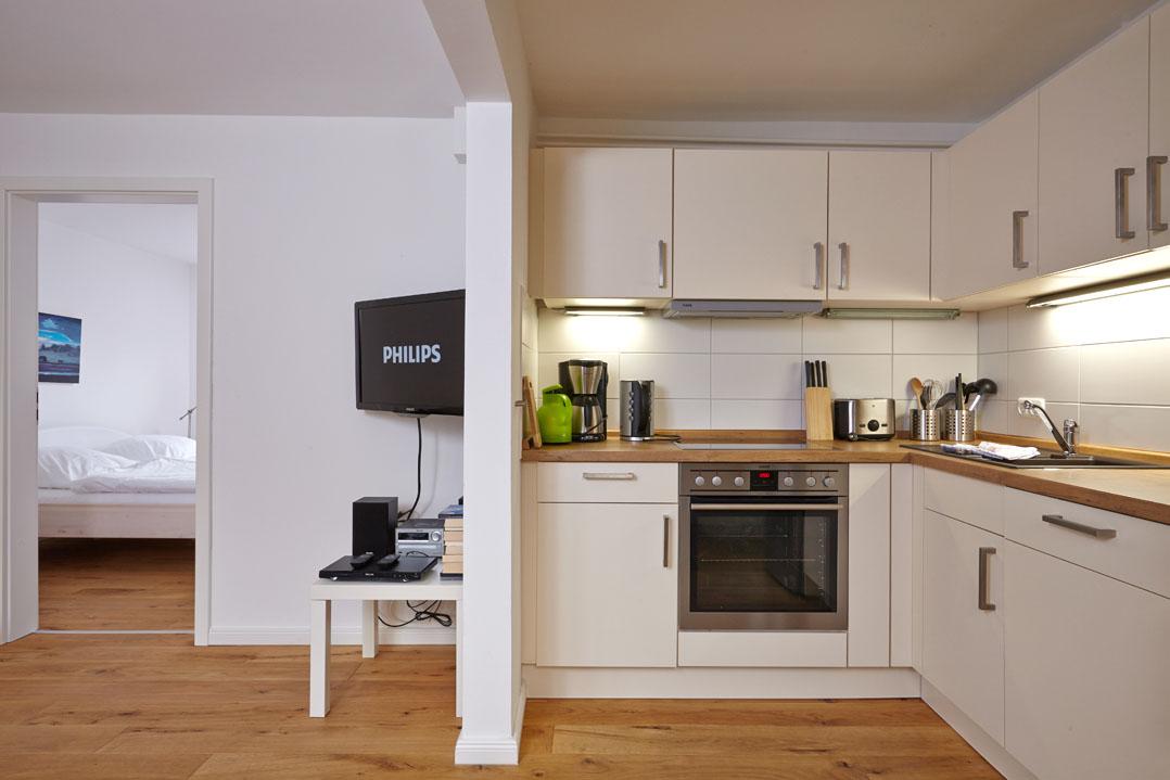 Ferienwohnung Weiße Düne, Küche