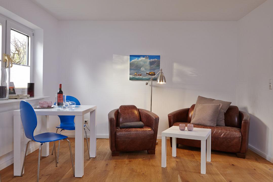 Ferienwohnung Weiße Düne, Wohnzimmer